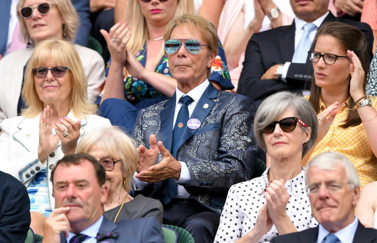 Cliff Richard Wimbledon 2019