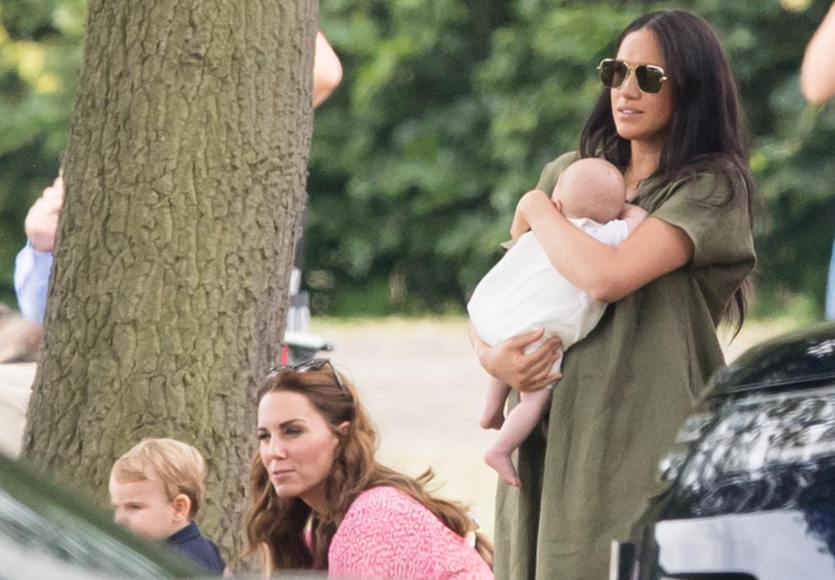 Kate Middleton Meghan Markle polo