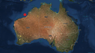 The earthquake hit off the coast of Western Australia between Broome and Port Hedland.