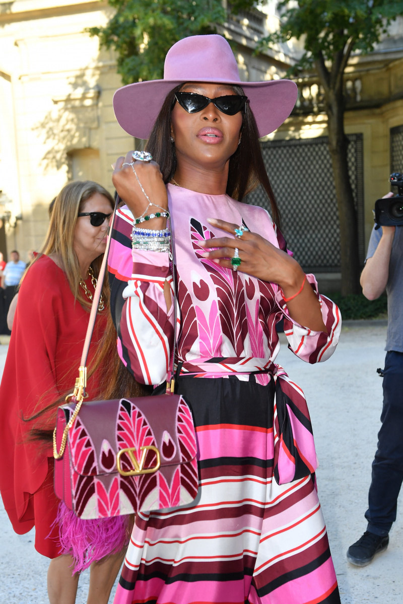 Naomi Campbell Paris July 3