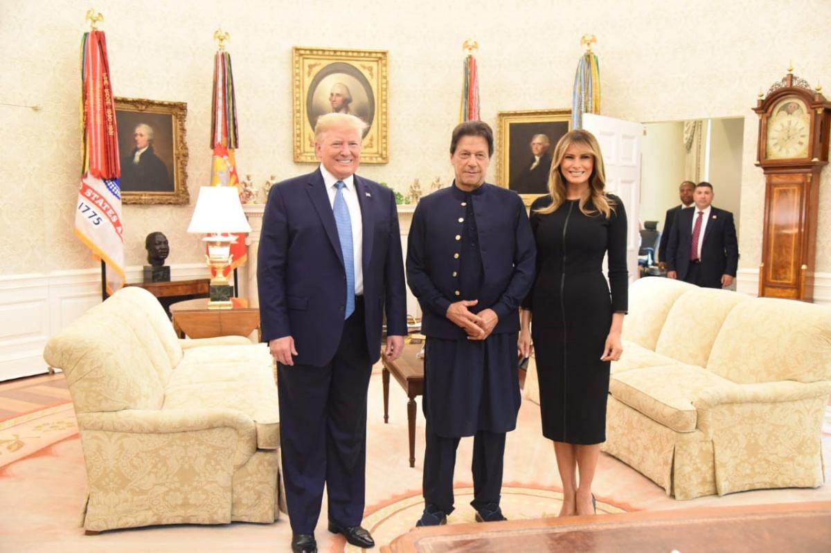 Donald Trump Melania Trump Imran Khan