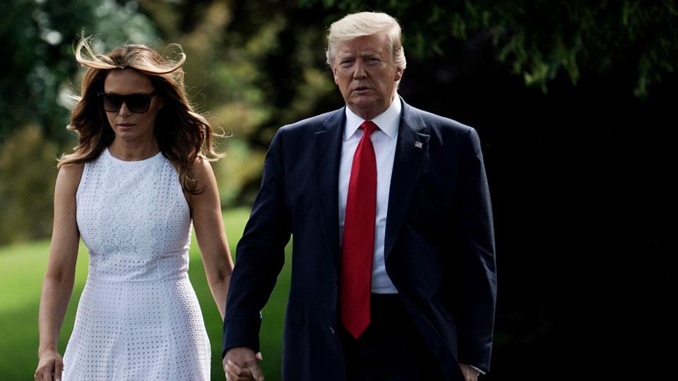 Melania Trump Donald Trump White House June 18