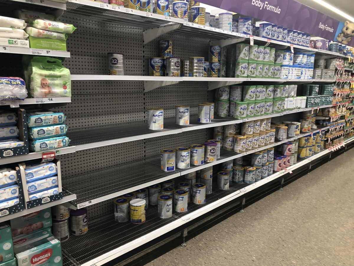 Many on the tins left on the shelves are fitted with security tags. Photo: TND