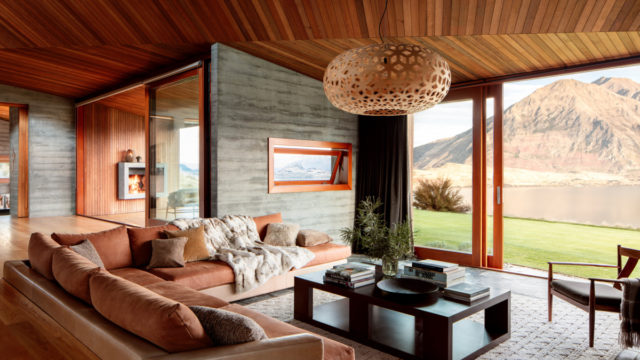 The living room at Te Kahu Lodge, on New Zealand's South Island – yours for a mere $33,000 a night