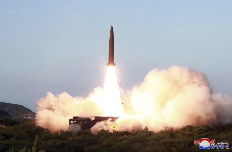korea missile warning