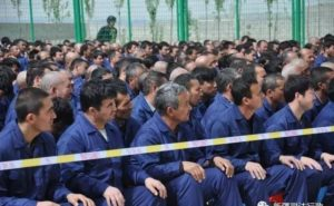 The CCP claims Uyghurs are living a 'free and normal' life in the camps. Photo: Chinese TV