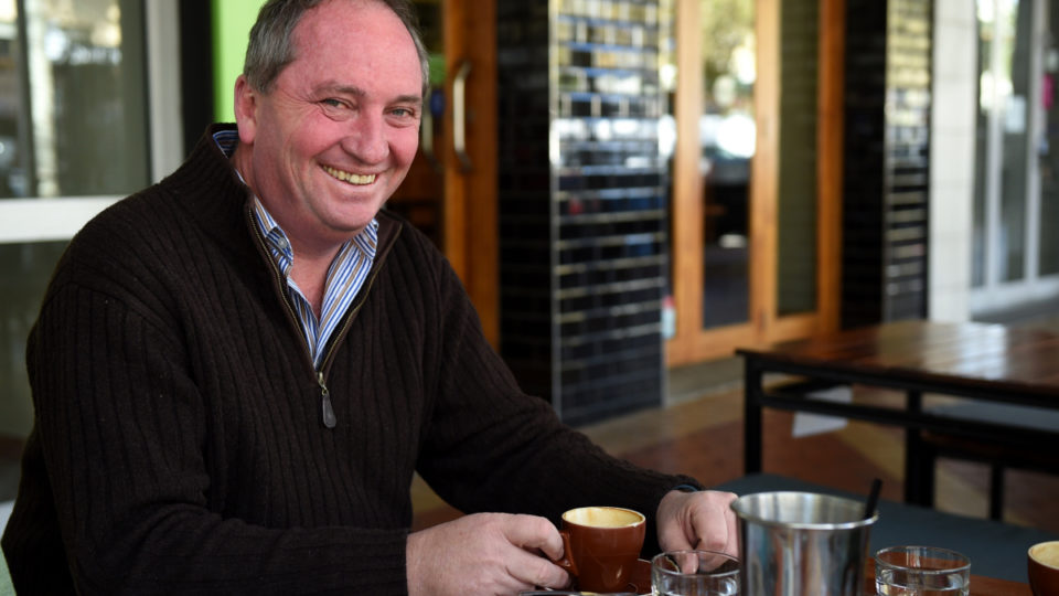 Barnaby Joyce says having a coffee at the end of the month is a treat.