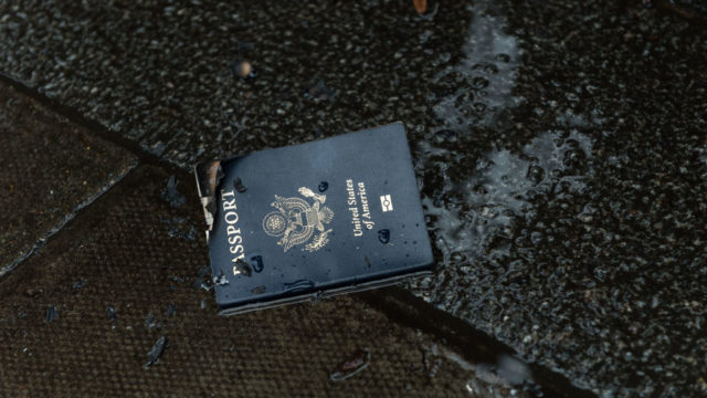 Passports and water don't mix.