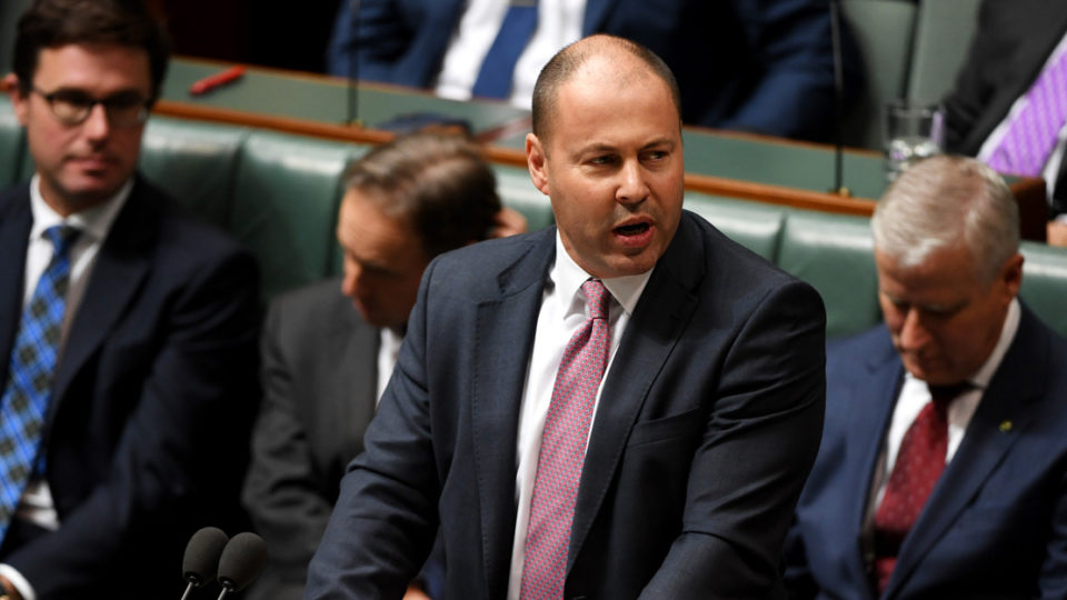 Josh Frydenberg gives a speech.