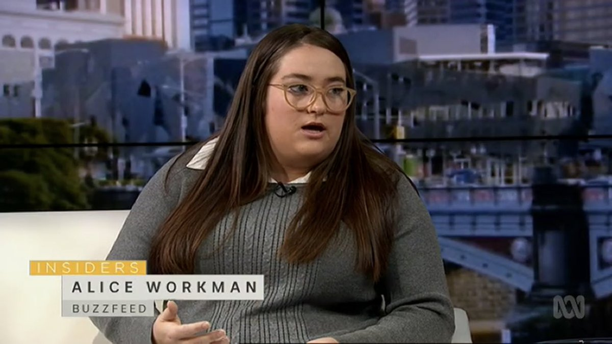 Journalist Alice Workman now works for The Australian.