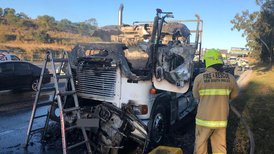 Truck fire causes nightmare for Sydney commuters