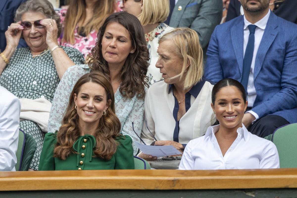 Kate Middleton Meghan Markle Wimbledon July 13
