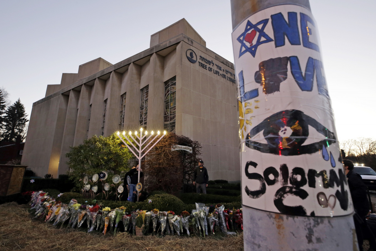 Eleven people were killed in the Pittsburgh synagogue shooting. Photo: AAP