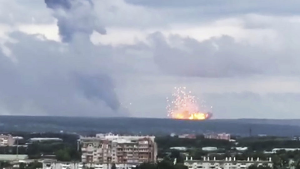 russian ammunition explosion
