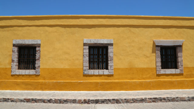 Bright in Baja: A building in Loreto.