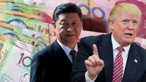 Xi Jinping and Donald Trump on top of Australian notes.