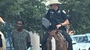 texas police black man leash