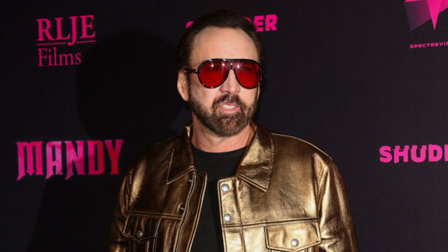 Nicolas Cage can't go out any more because of a karaoke misfire