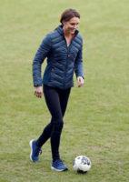Kate Middleton plays soccer
