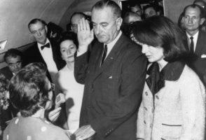 Lyndon Johnson sworn in