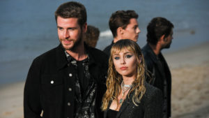 Liam Hemsworth Miley Cyrus St Laurent show