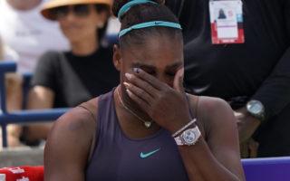 serena williams tears