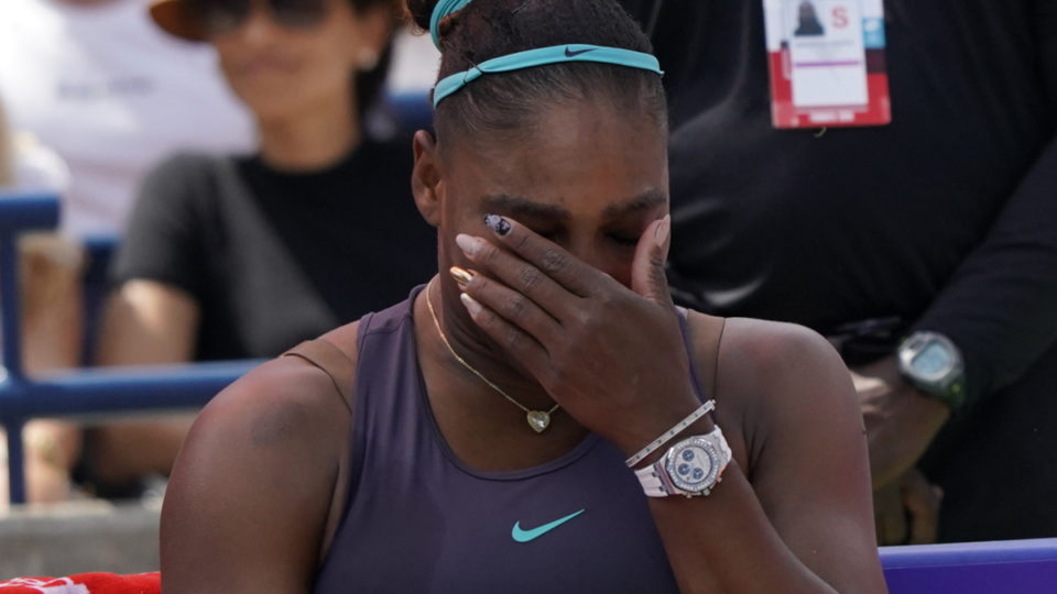 serena williams tears