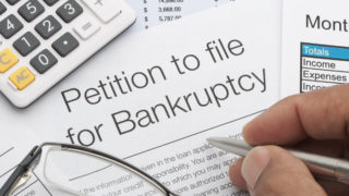 A petition to file bankruptcy.