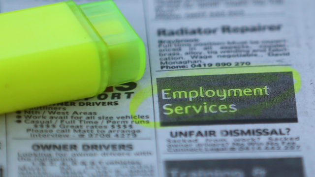 Job ads have fallen by more than 60 per cent amid the worsening coronavirus outbreak.