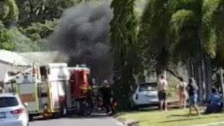 lawnmowing contractor car blast
