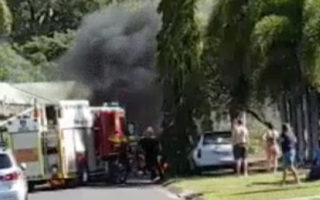 lawnmowing contractor car blast