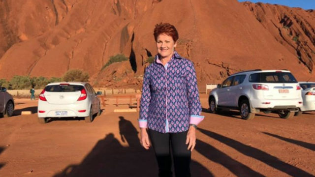 'It's quite scary': Pauline Hanson's change of tune on Uluru climb