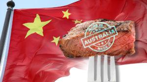 Steak and a flag