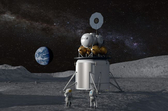 Artist's concept of a future moon landing carried out under NASA. Photo: NASA