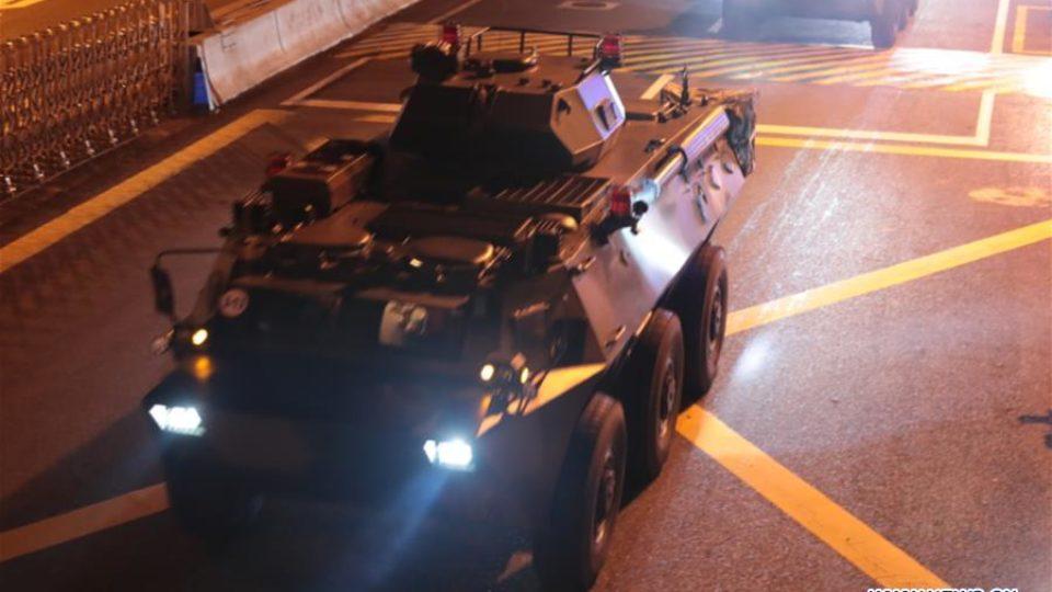 china troops hong kong