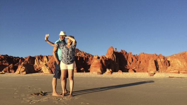 Selfies at Cape Leveque, 240 kilometres north of Broome.