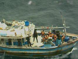 Asylum seekers on the Sri Lanka boat. Photo: Department of Home Affairs