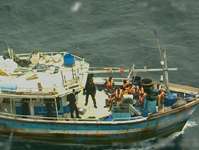Asylum seekers on the Sri Lanka boat. Photo: Department of Home Affairs