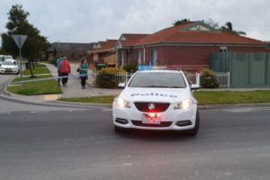 Police car parked out the front of a Langwarrin home where a toddler died.