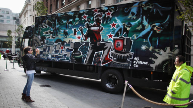 Banksy graffitied an old circus truck. Now it could be worth $2 million