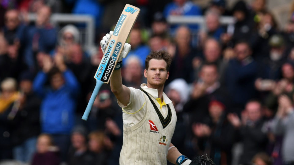 Steve Smith walks off field.`