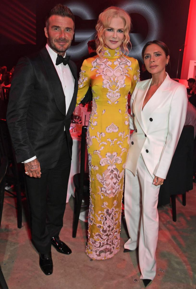 David Beckham Nicole Kidman Victoria Beckham
