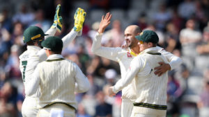 AUstralia celebrates after winning the 2019 Ashes.