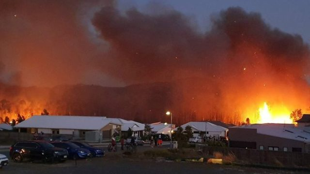 Suburbia under siege as bushfires spread from country to coast