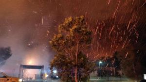 A bush fire in Peregian Springs.