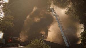 A factory fire in Moorebank.