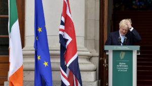 A sad looking Boris Johnson.