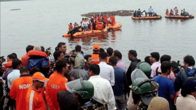 Boat capsize in India's Andra Pradesh state kills 12, with 35 missing
