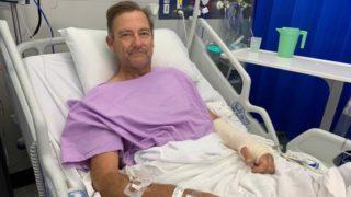 bushwalker broken leg crawl