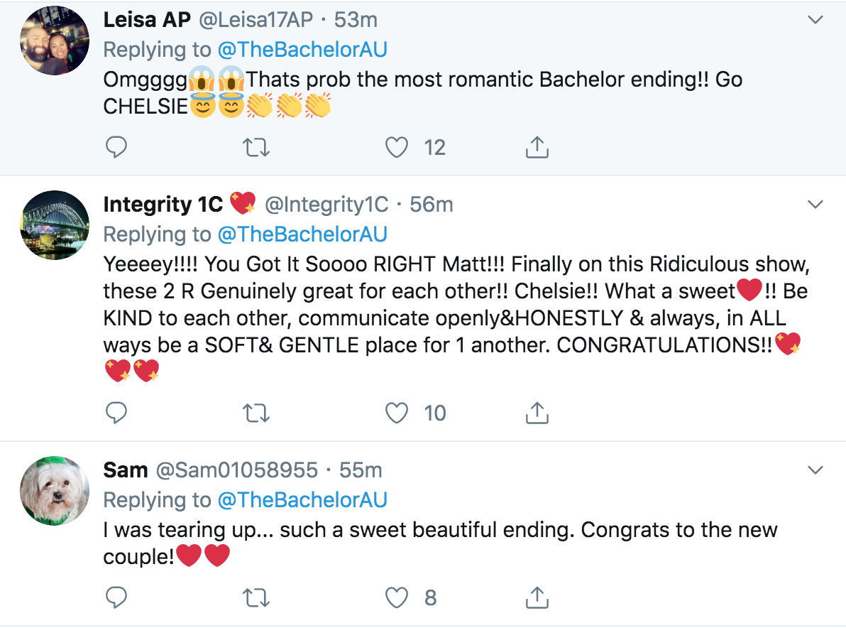 The Bachelor tweet